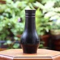 箱底好物**日本古董 銅製花器 N821000 W4.5cm * H17.5cm