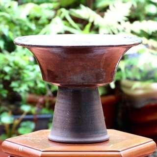 箱底好物**日本古董 漏斗型花器  N453500 口徑24.5、H19.5cm