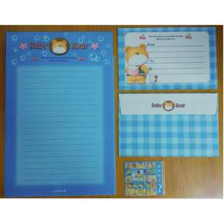 可愛 信封信紙套裝 (B) (Envelope, Notepaper, Writing Sheet, Letter, Sticker)