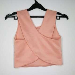Pink X crop top