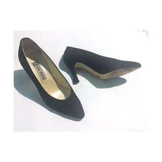 Via Roma Gamosa Black Shoes Original