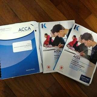 P5 ACCA Text, Exam Kit, Kaplan Notes