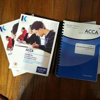 P4 Text, Exam Kit, Kaplan Notes