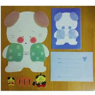 信紙信封 (F) 可愛 (Envelope, Notepaper, Writing Sheet, Letter, Sticker)