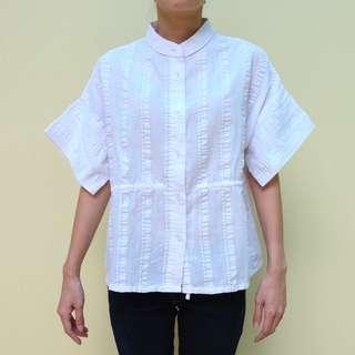 Kloth Textured White Blouse