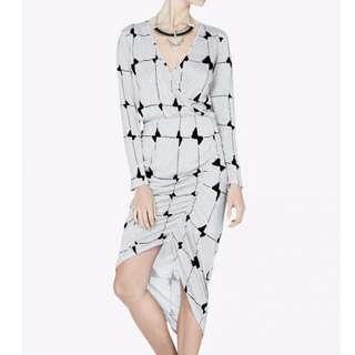 Sass & Bide - Depths Of The Sea Dress - Grey/ Print - Size 8 - BNWT RRP $350