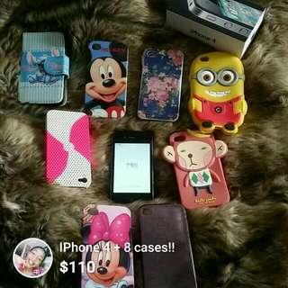 IPhone 4 + 8 Cases