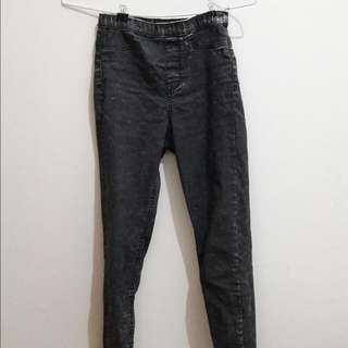 H&M Hnm Divided Black Washed Jeans Legging Jegging