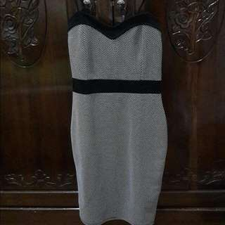 New Look Black White Bodycon Dress
