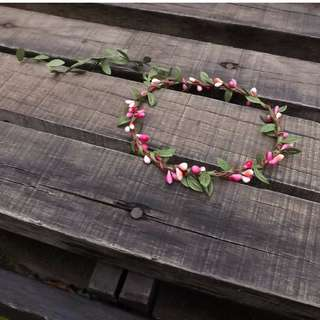 Simple Wreath For Wedding, Photo Shooting ( Pink Color )