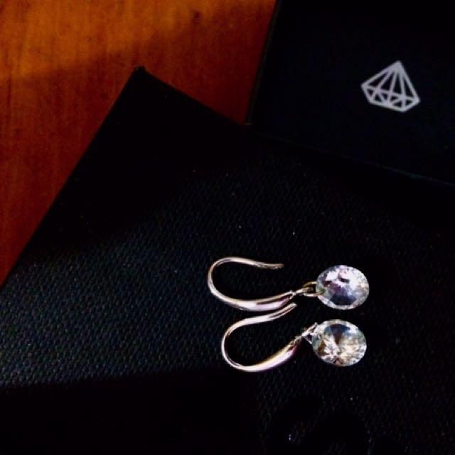 925 Crystal Earrings