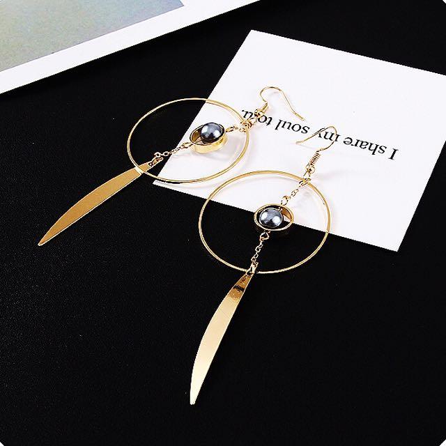 韓式金屬圓圈耳環❤️