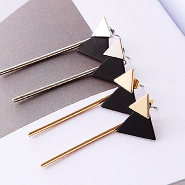 韓式雙三角長條耳式