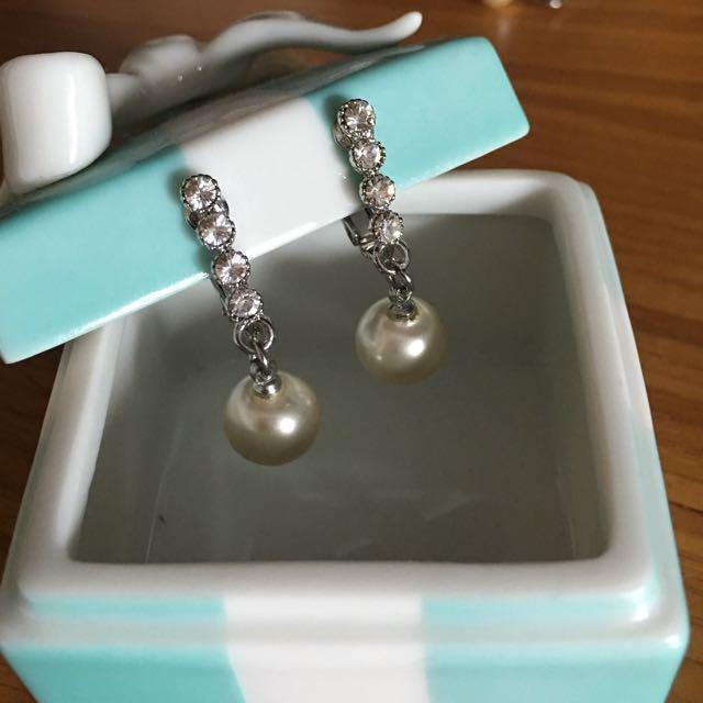 優雅氣質珍珠耳環