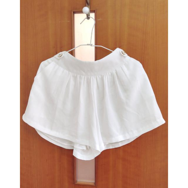 韓版白色褲裙