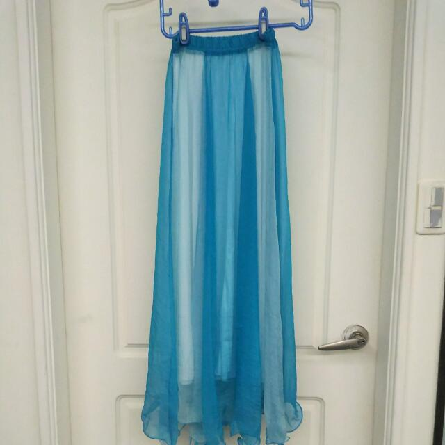 雪紡平口洋裝長裙