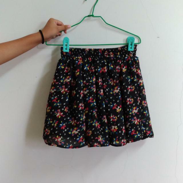 碎花雪紡短裙 #八月免購物我送你