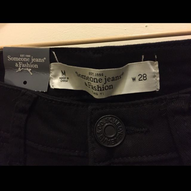Someone Jeans 超百搭黑色長褲牛仔褲顯瘦內搭褲 全新