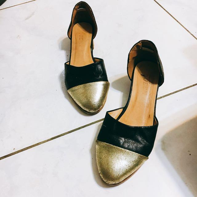 近全新 霧金色 金屬感 涼鞋