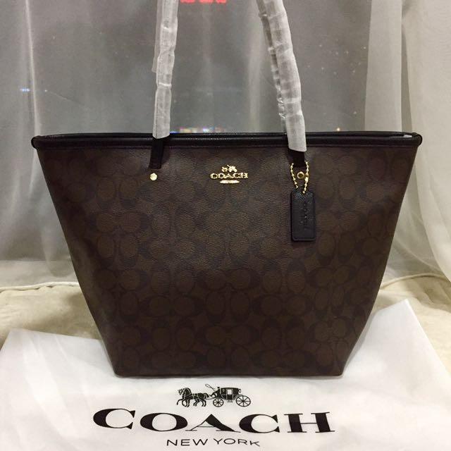 104821ad 💯 Authentic Coach Woman Signature Tote Bag F34104