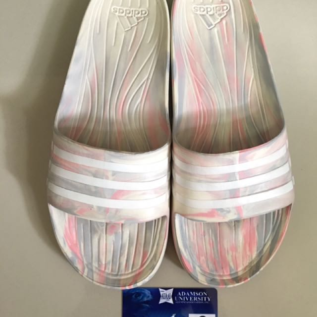 Adidas Slippers White/Pink Mesh
