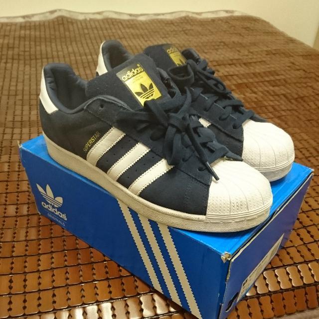 Adidas Superstar Suede深藍可交流