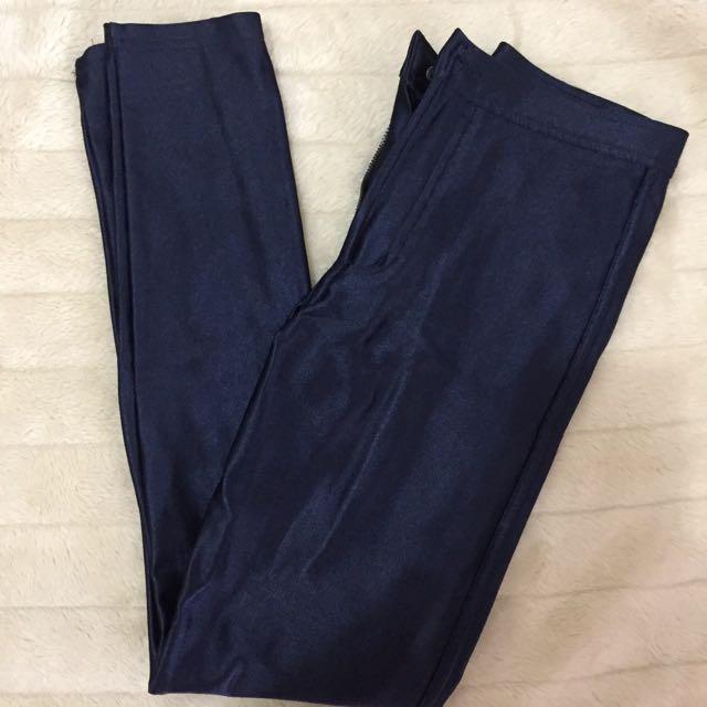 American Apparel Navy Disco pants