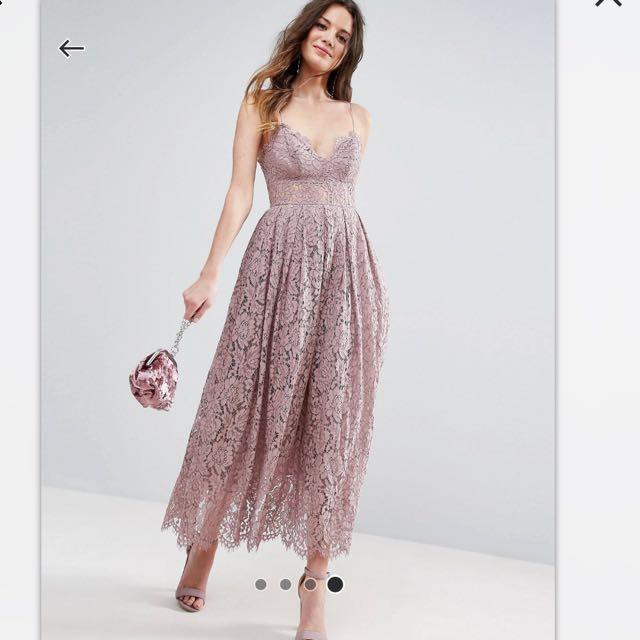 ef2f5cb003 ASOS Lace Cami Midi Prom Dress