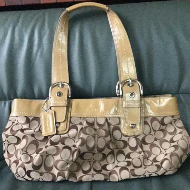 Auhtentic Coach Shoulder Or Handbag