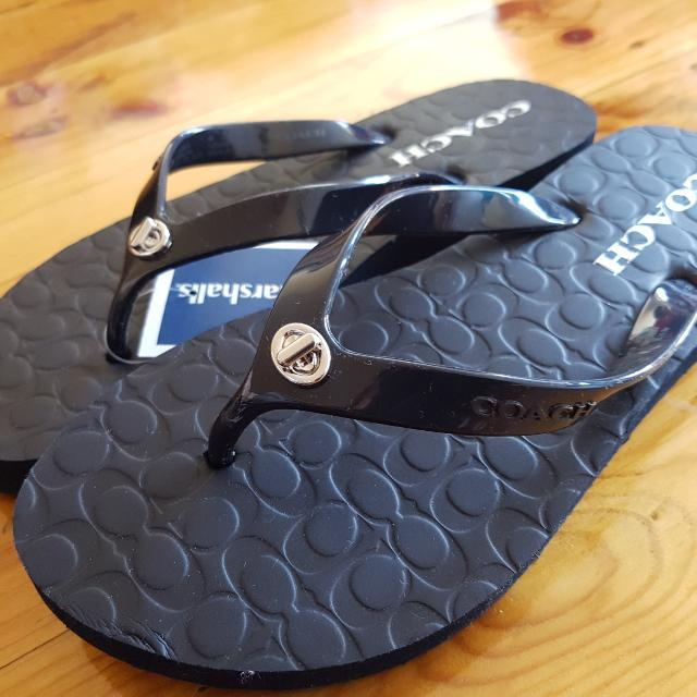 Authentic Coach Slip On Thongs