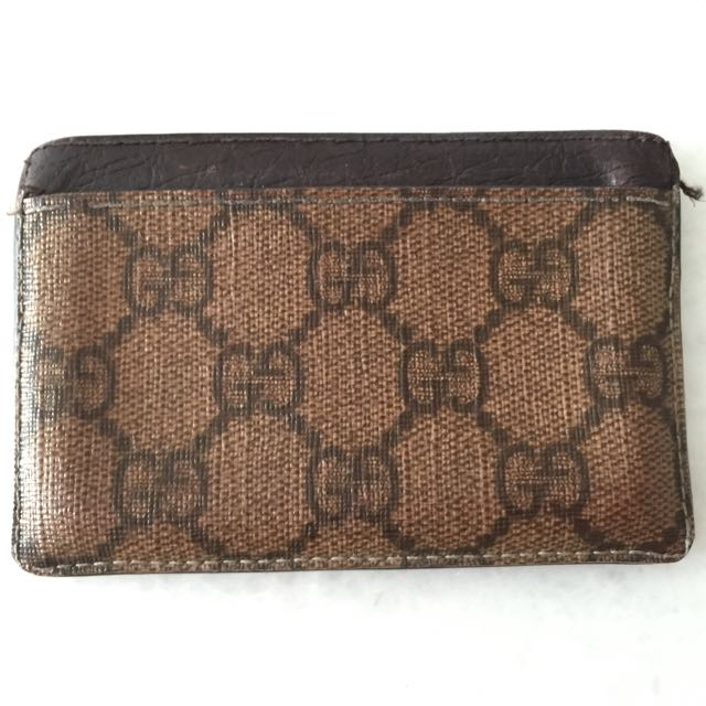 3a2a9527b32e Authentic Gucci Name Card holder, Barangan Mewah, Beg dan Dompet di ...