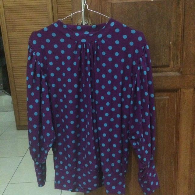 reprice baju / atasan / blouse polkadot