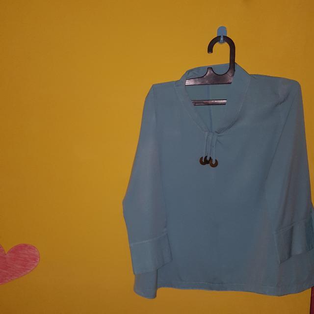 Baju Kondangan Biru Tosca