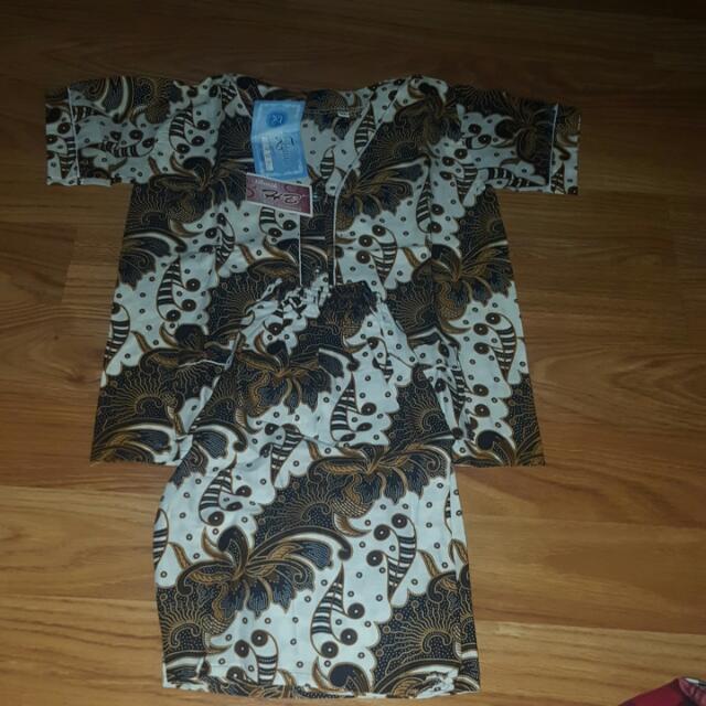 Baju Tidur Anak (Celana Pendek) Batik