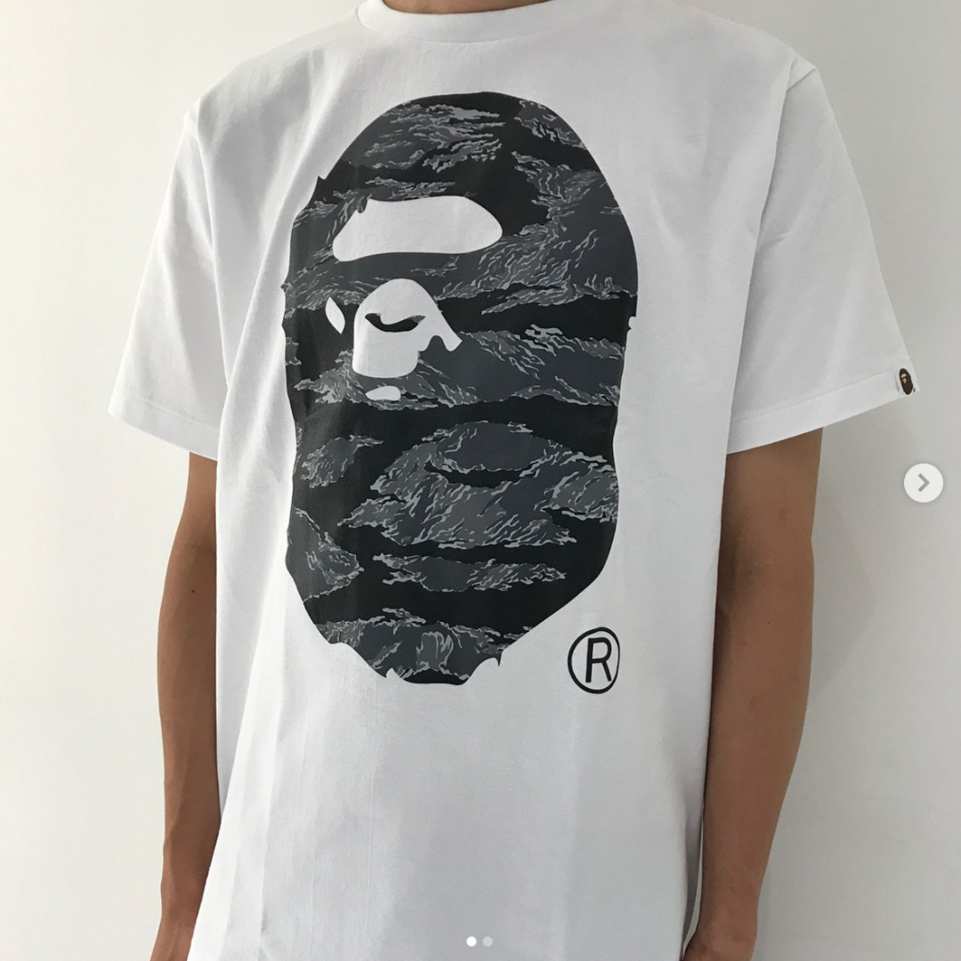 c3d52906f BAPE tiger camo logo head tee, Men's Fashion, Clothes on Carousell