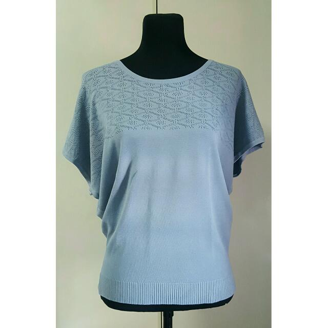Bayo Blue Knit Top
