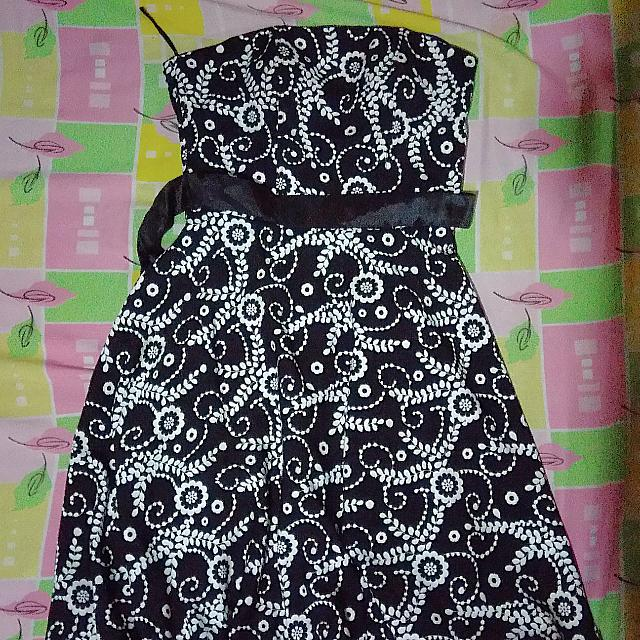 RUSH Black And White Cocktail Dress