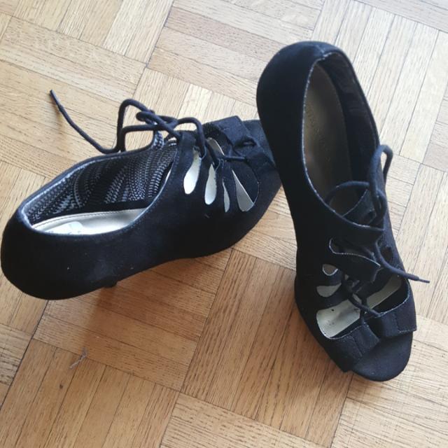 Black Laced Up Heels