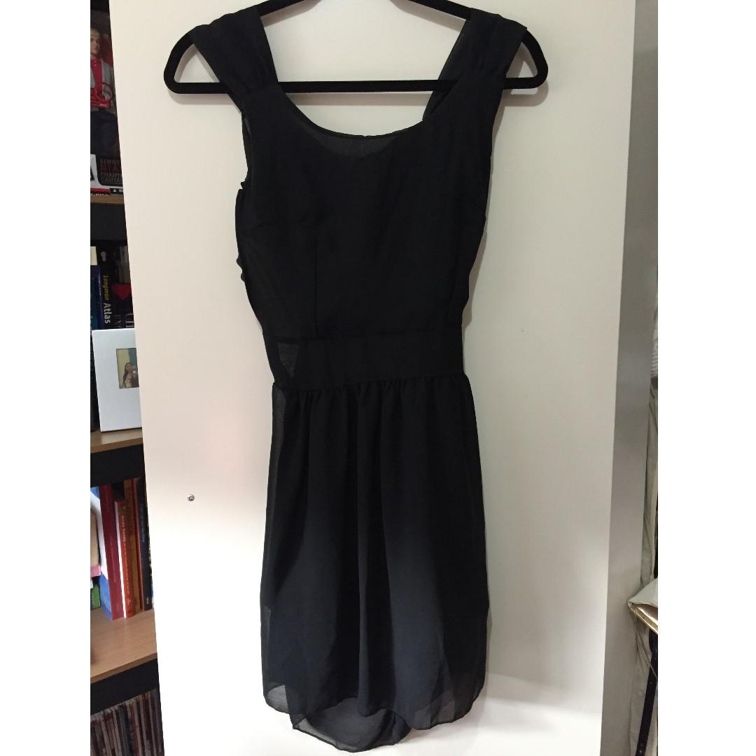 Black Open back formal dress