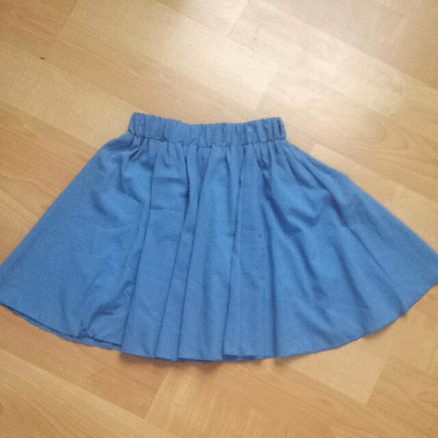 Blue Skirt With Pants At The Bottom (Skort)