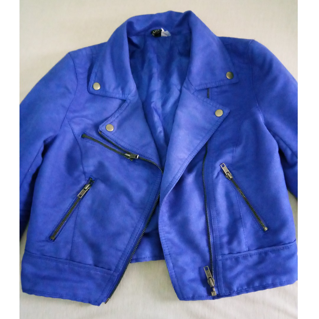 Blue Suede Jacket by H&M