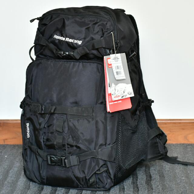 Burton Zoom Pack Outdoor Camera Backpack Limited Edition Honda Racing