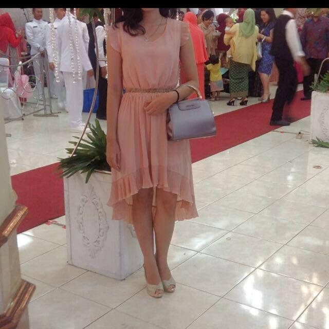 Chic Simple Dress Peach