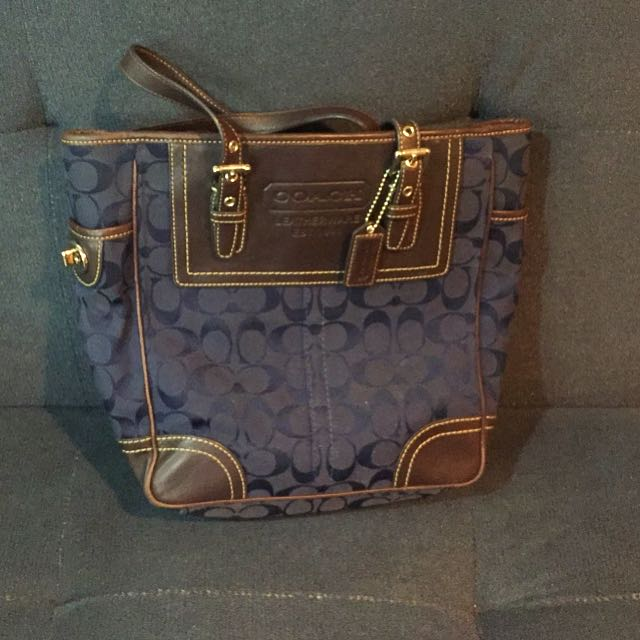 Coach Signature Leather and Canvass Bag