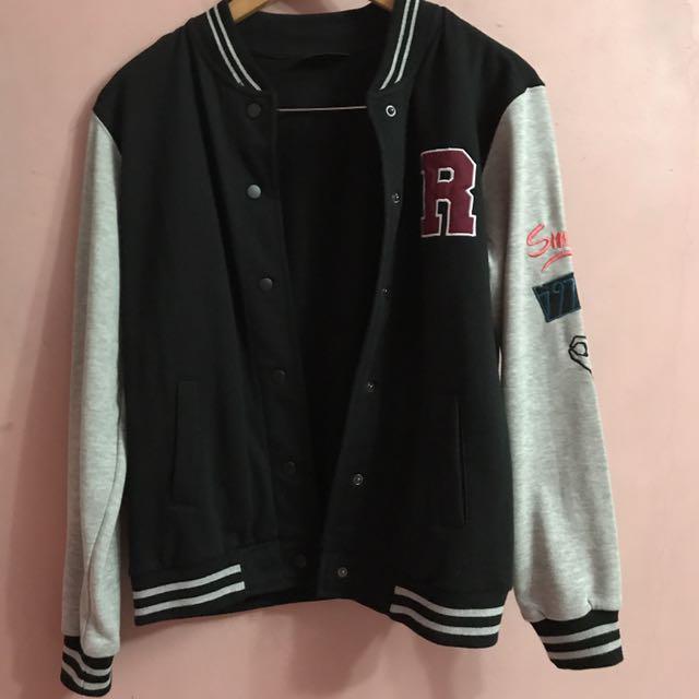 Cotton On Embroidered Varsity Jacket
