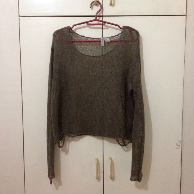 Divided by H&M distressed knit cover up