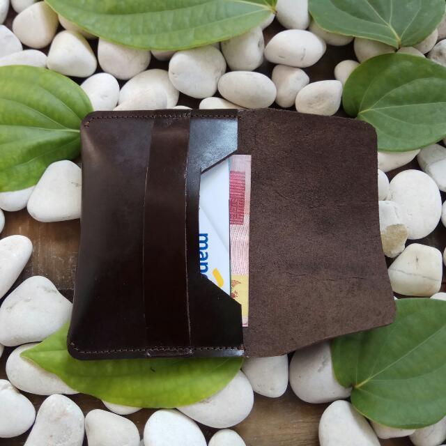 Dompet Kartu Kulit Tempat Kartu Kulit Slim Wallet