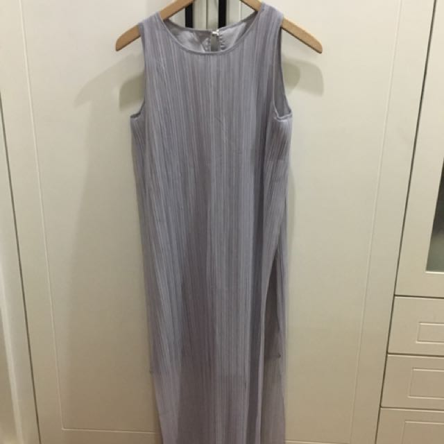 Dress Abu2 (pleated With Side Slit)