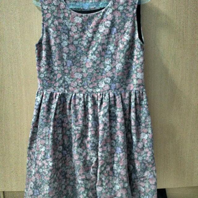 Dress Bunga Abu2