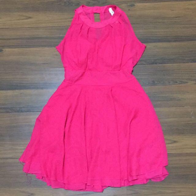 dress pink, mini dress